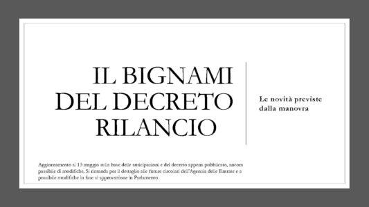 IL BIGNAMI DELDECRETO RILANCIO - IMG